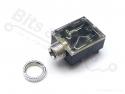 Jack connector/socket 3,5 mm female stereo met aan/uit functie