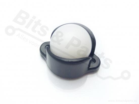 Ball caster wheel / kogelwieltje plastic 0,5inch/1,27cm - Pololu 953