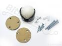 Ball caster wheel / kogelwieltje plastic 1inch/2,54cm - Pololu 956