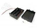 Batterijbox/Batterijhouder AA Penlite x 3  (4,5V)met deksel