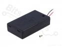 Batterijbox/Batterijhouder AAA Penlite x 3  met schakelaar