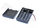 Batterijbox/Batterijhouder AAA Penlite x 4 met schakelaar
