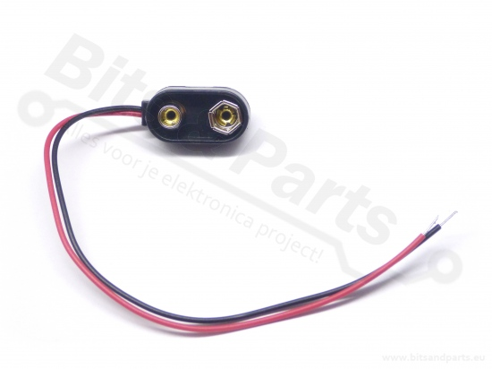 Batterijconnector 9V blok batterij