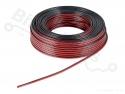 Luidsprekerdraad 2 x 0,5mm2 meeraderig - 10 meter rol zwart/rood