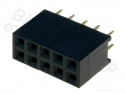 Headerpin socket female 2x5 pins