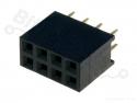 Headerpin socket female 2x4 pins