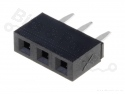 Headerpin socket female 1x3 pins