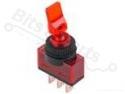 Schakelaar tuimelschakelaar ASW-14D 1-polig aan/uit SPDT 12V/20A Rood