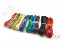 Draadset 10 kleuren 1x0,2mm2 vaste kern