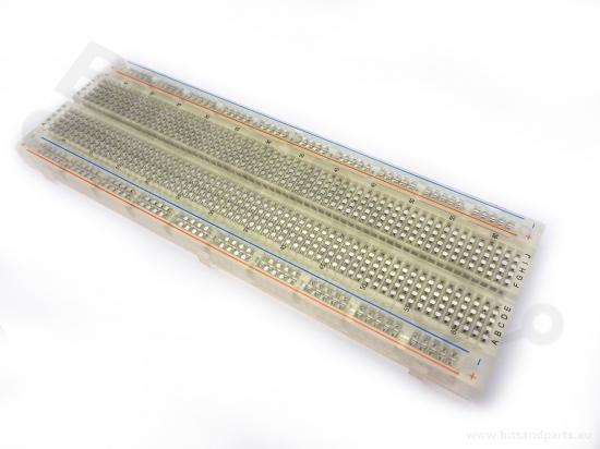 Breadboard 830 pins MB102 - universeel experimenteer board clear