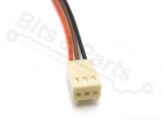 Signaalconnector 3-polig met draad