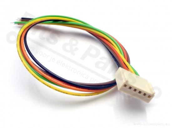 Signaalconnector 6-polig met draad
