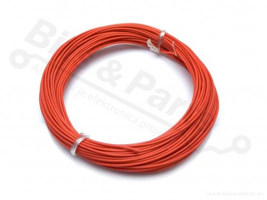 Draad 1x0,2mm2 vaste kern 10 meter rood