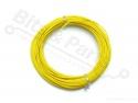 Draad 1x0,2mm2 meeraderige soepele kern 10 meter geel