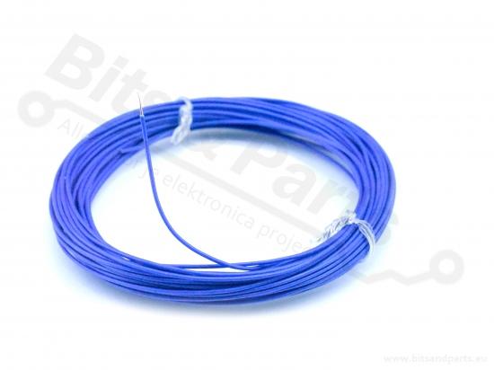 Draad 1x0,2mm2 meeraderige soepele kern 10 meter blauw