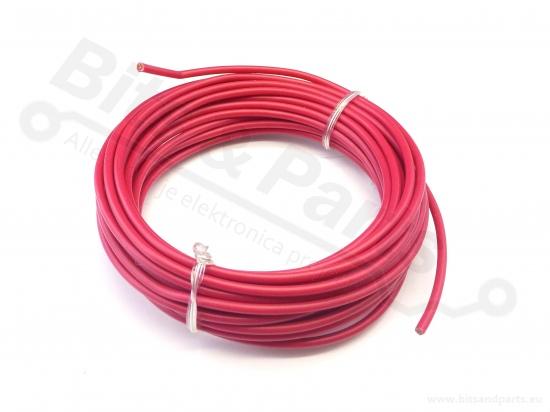 Draad 1x1,0mm2 meeraderige soepele kern 5 meter rood