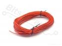 Draad 1x0,14mm2 meeraderige soepele kern 10 meter rood