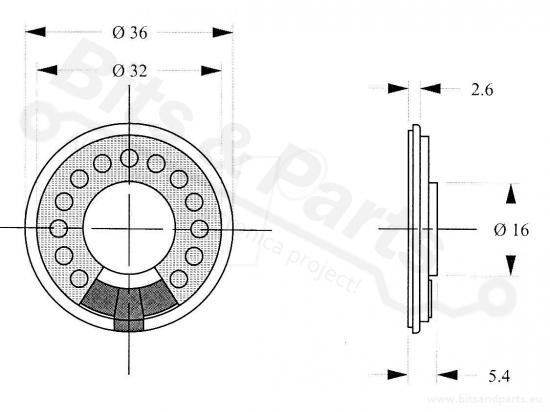 Speaker 8 Ohm 1 Watt