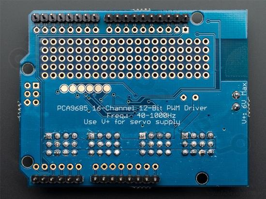 Servo/PWM Shield 16 kanaals 12-bit - Adafruit 1411