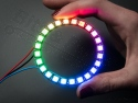 LED Ring NeoPixel - 24x WS2812 5050 RGB LEDs met drivers - Adafruit 1586