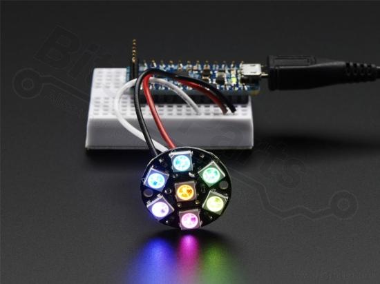 LED Ring NeoPixel Jewel - 7x WS2812 5050 RGB LEDs - Adafruit 2226