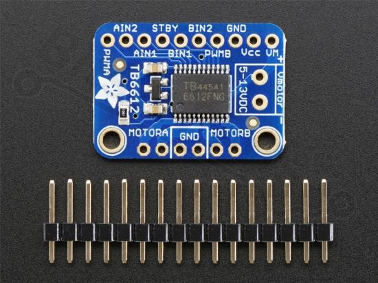 Stappenmotor-/DC motor driver TB6612 1,2A Breakout Board - Adafruit 2448
