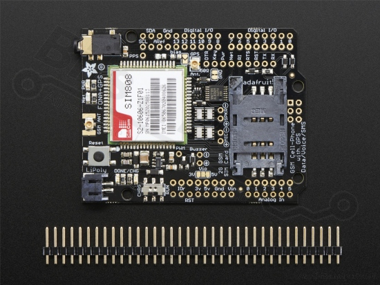 Telefoon en GPS shield voor Arduino - FONA 808 - Adafruit 2636