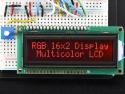 Display LCD HD44780 - 16x2 RGB op zwart - Adafruit 399