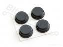 Plakvoetjes zwart - set 4 stuks Ø8mm x 4mm - Adafruit 550