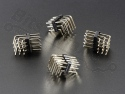 Headerpins male 3x4 pins metaal 90 graden haaks