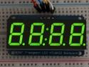 Cijferdisplay 4-Digit 7-Segments Groen 1,42cm + I2C backpack - Adafruit 880