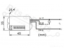 Bewegingssensor/bewegingsmelder Infrarood/IR PIR - met relais