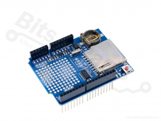 Data Logging Shield met SD card reader en RTC voor Arduino UNO