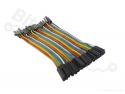 Breadboard jumper kabeltjes Dupont 10cm female/male 40x
