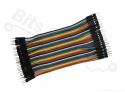 Breadboard jumper kabeltjes Dupont 10cm male/male 40x