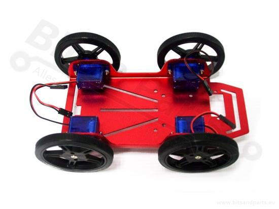 Smart Car Chassis 4WD met 4 motors FT-MC-003-KIT