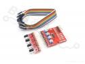 Infrarood/IR reflectie sensor (Lijnvolger-/Afstands-sensor) 4-kanaals