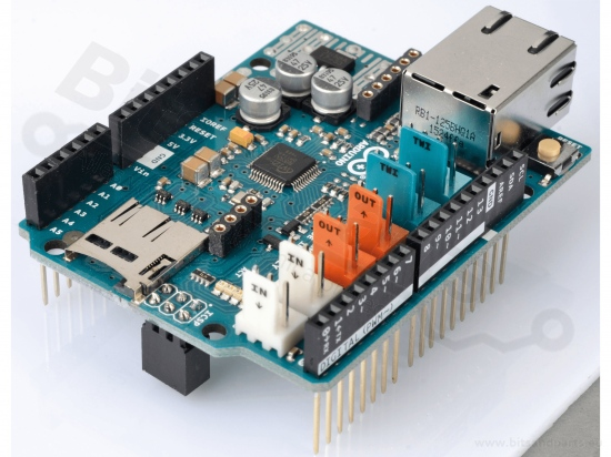 Ethernet/LAN netwerk shield 2 W5500 SD-Card Reader (org. Arduino) A000024