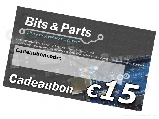 Bits & Parts Cadeaubon 15 Euro